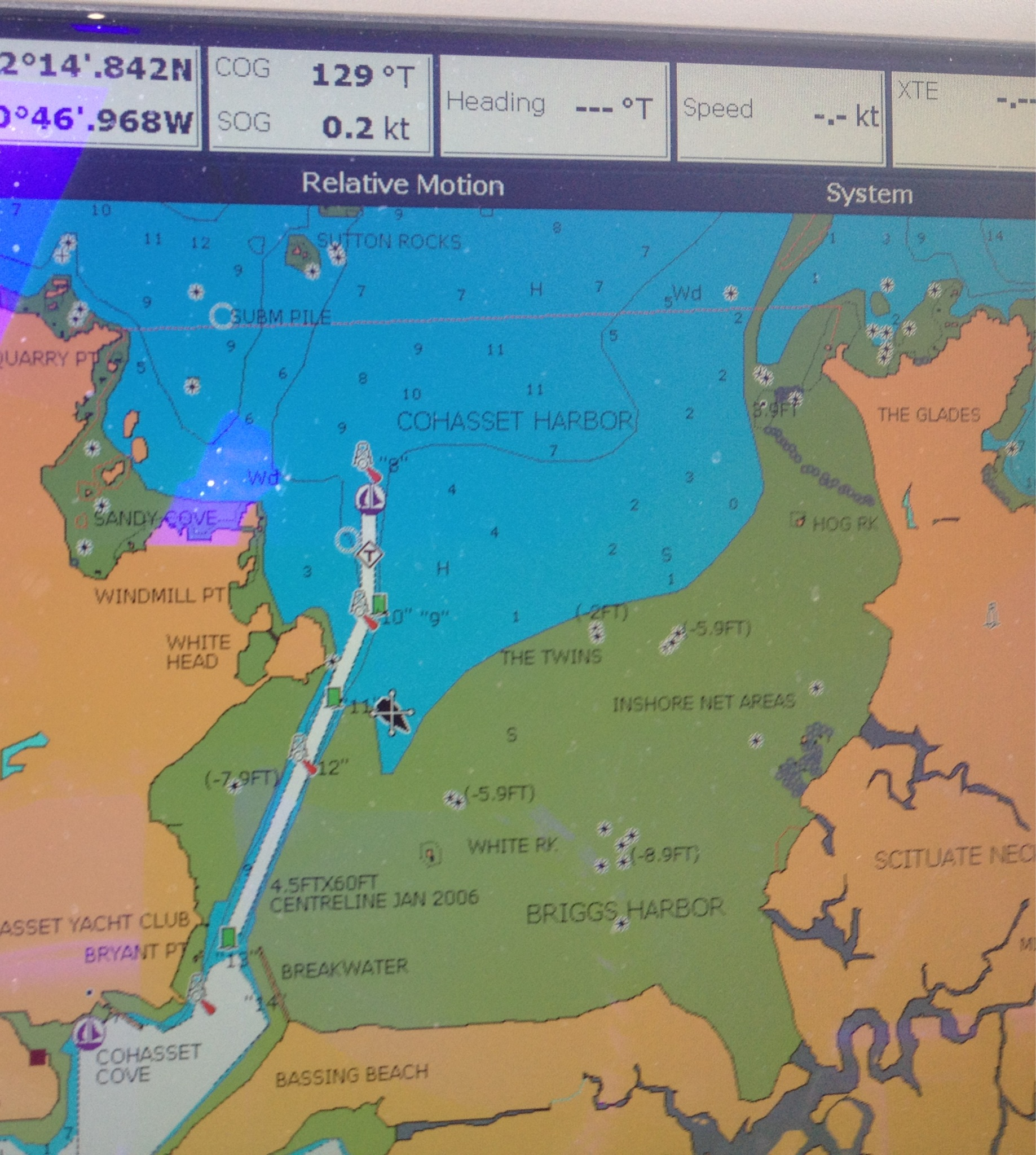 Boston harbor beacon boston harbor history and a gps chart view of bassings beach which appears and dissappears with the tide note my position which was enough at low tide for the boat to still have nvjuhfo Images