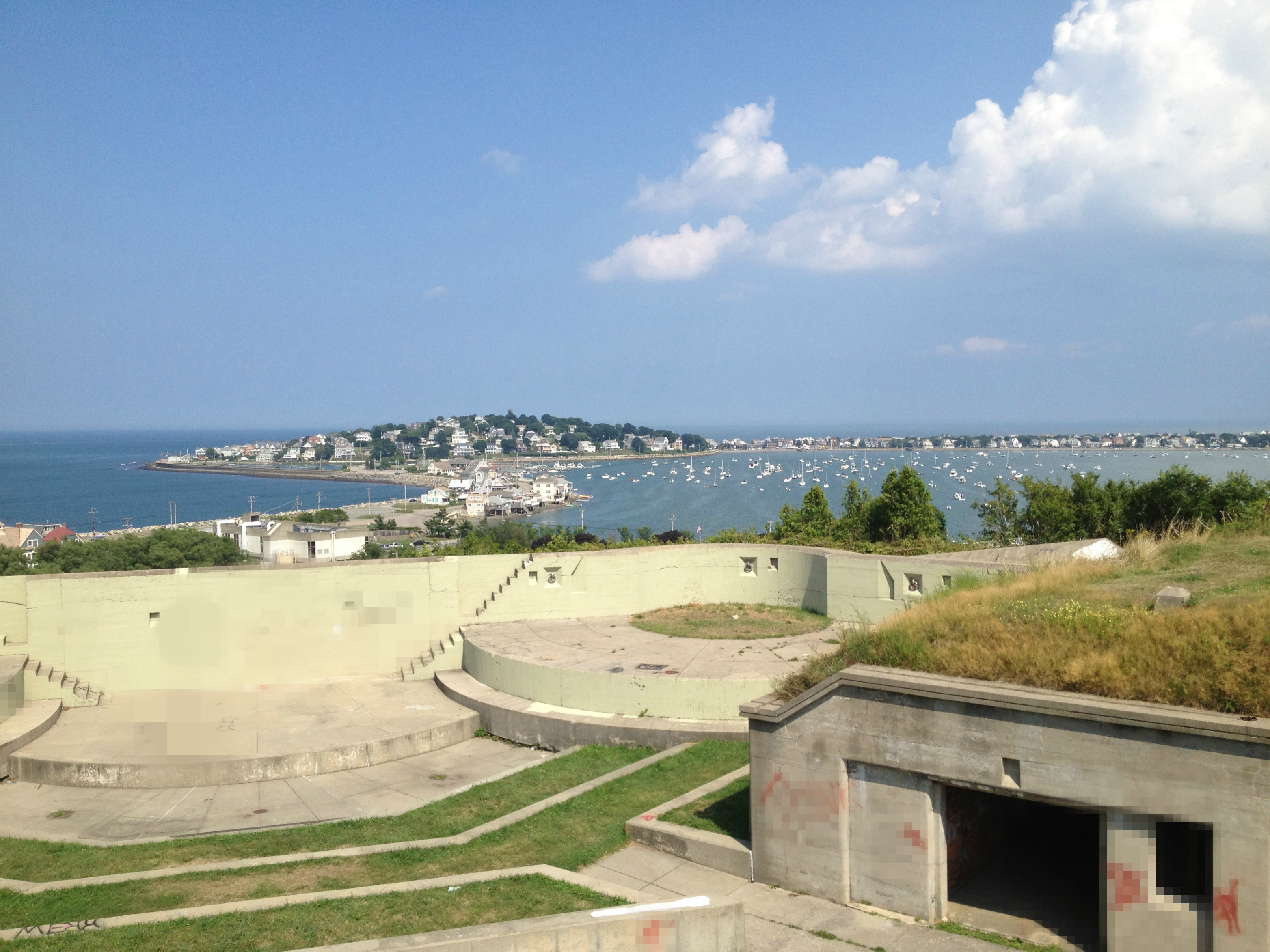 Views from fort revere in hull boston harbor beaconboston harbor fort revere is a less well known landmark which is what i found compelling about going there the fort has a strategic location on a hill high above hulls nvjuhfo Choice Image